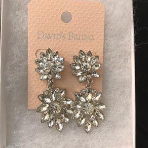 {David's Bridal} Drop Earrings NWT